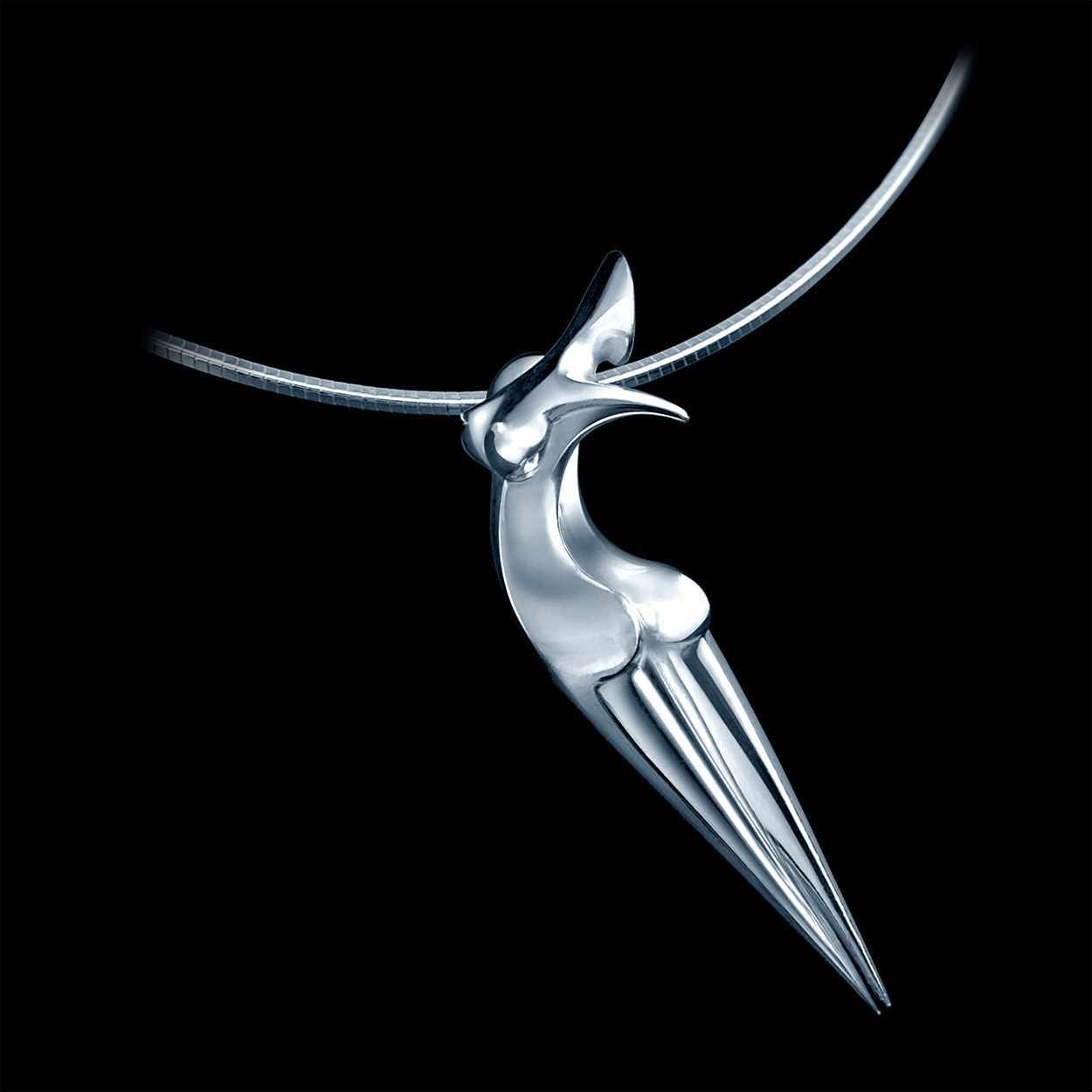 Nina, Contemporary solid Silver Jewel by the artist Marion Bürklé