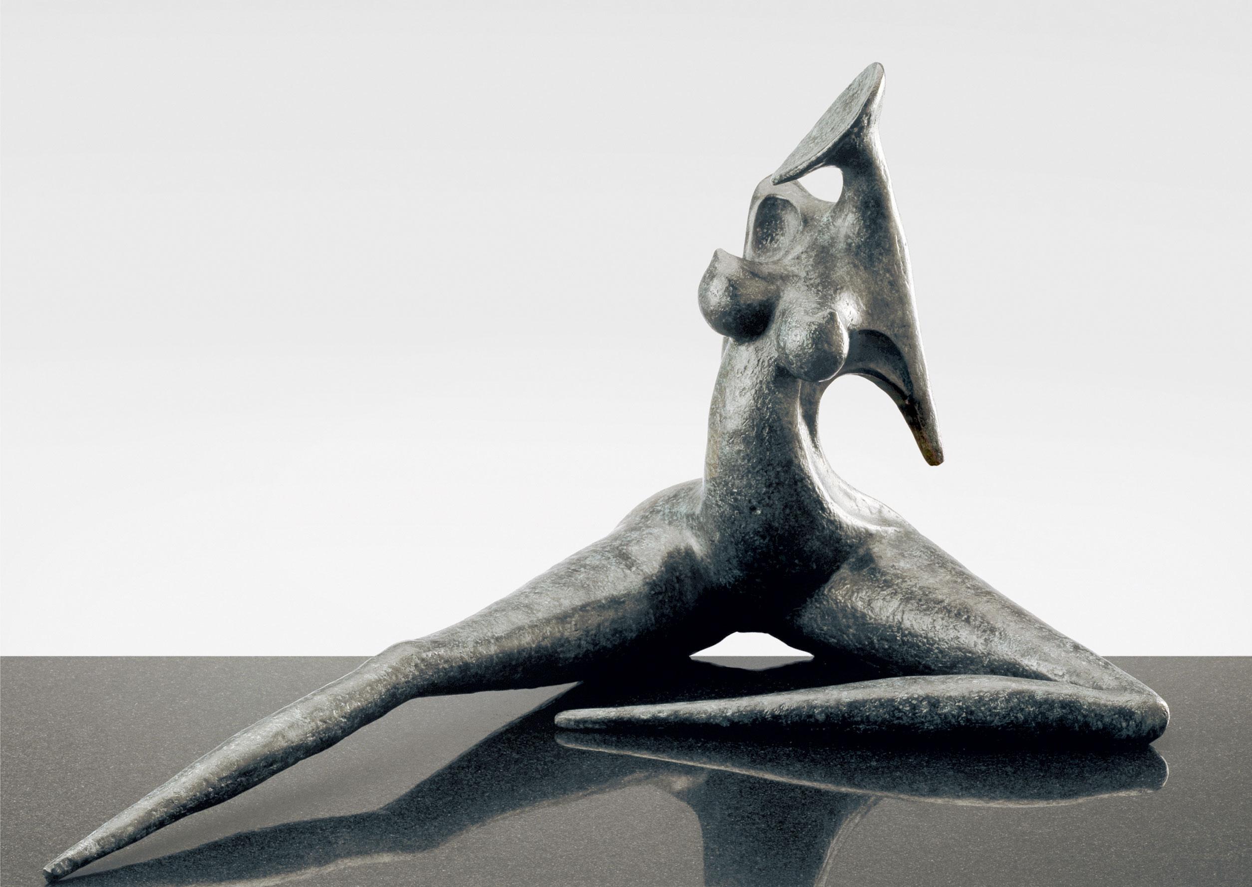 Provocation, sculpture en bronze de Marion Bürklé