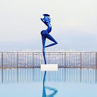 Danseuse, sculpture monumentale en carbone de 3 mètres