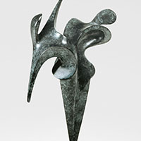 Duo, sculpture bronze de Marion Bürklé