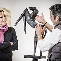 Marion Bürklé avec Denis Fetisson du restaurant de La Place de Mougins