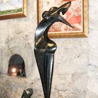 Nina, sculpture en bronze de Marion Bürklé